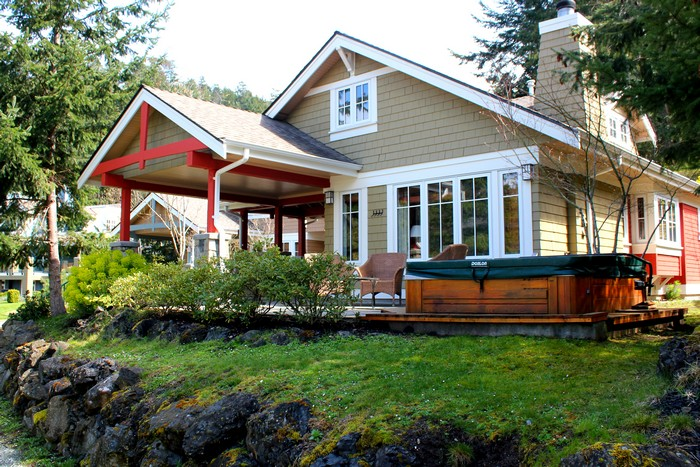 Cottages, Poets Cove Resort, South Pender Island, Gulf Islands, British Columbia, Canada