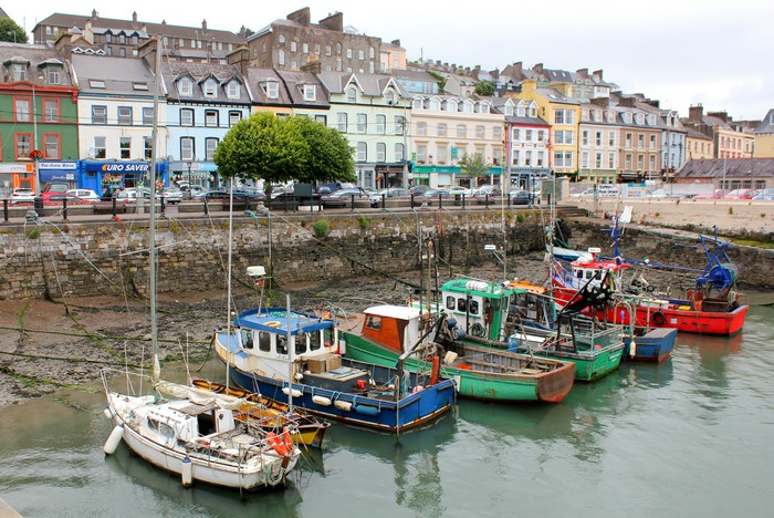 Cobh, County Cork, Fishing Boats, St Colmans Cathedral, architecture