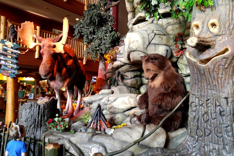 Lobby, Great Wolf Lodge in Niagara Falls, Ontario, Canada