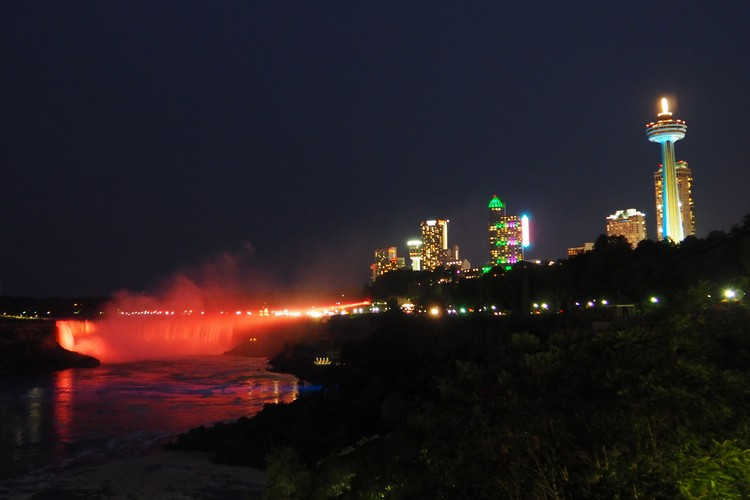 Night Skyline, Niagara Falls, Ontario, Canada