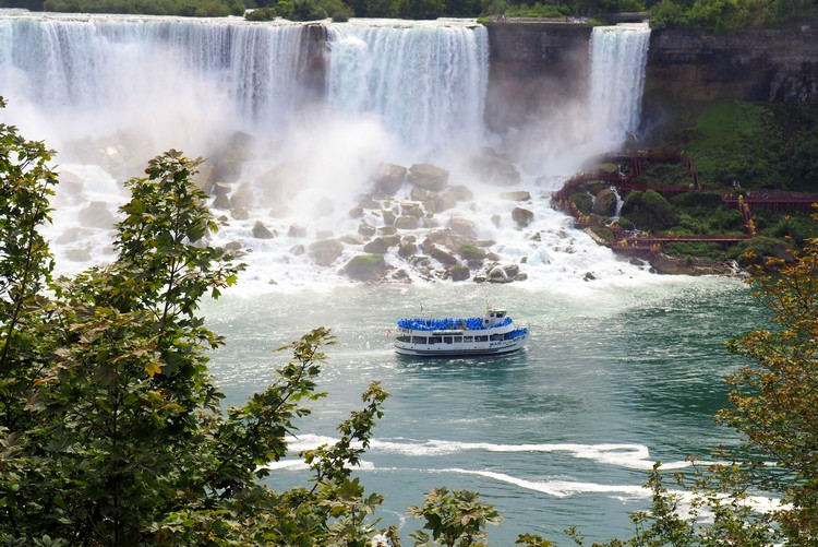 Hornblower boat cruise, Niagara Falls, Ontario, Canada