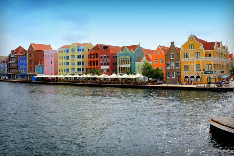 Willemstad buildings Curaçao Caribbean