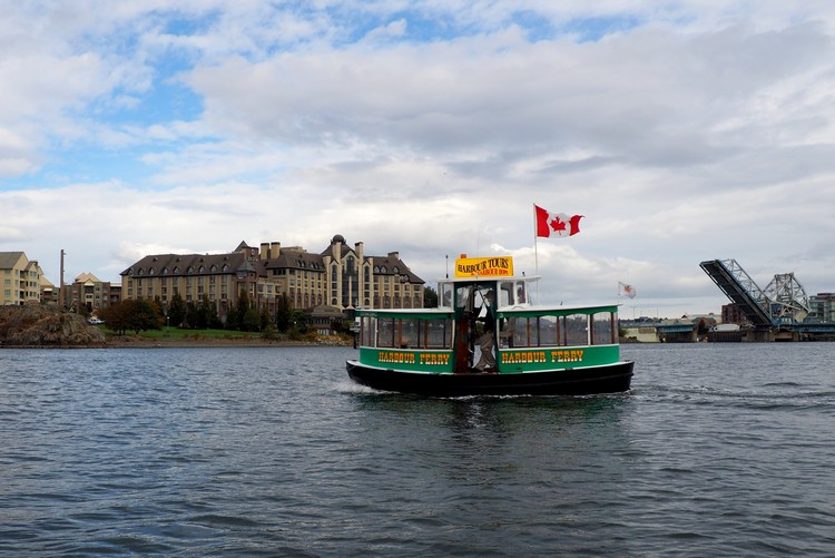 water taxi in Victoria Inner Harbour, British Columbia Canada