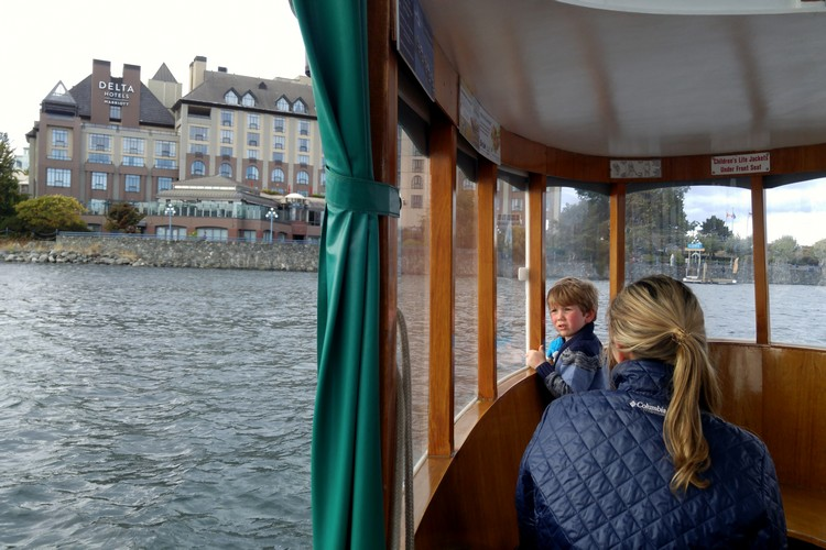 Inside the Victoria Harbour Ferry in Inner Harbour