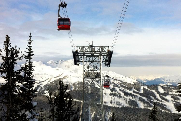 the best ski resorts in Canada, Whistler Blackcomb Peak to Peak Gondola in winter