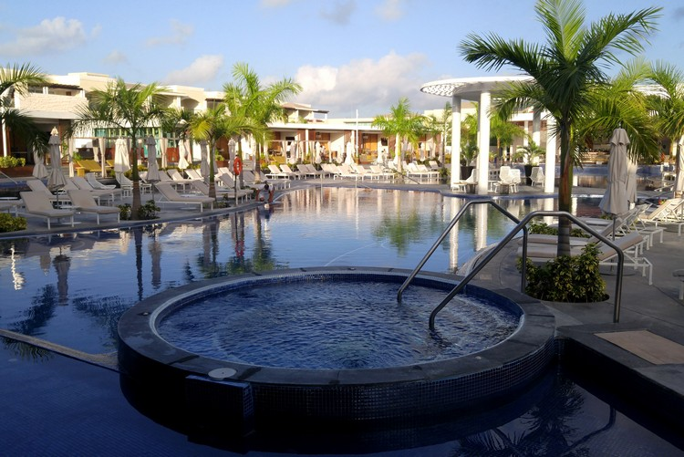 Adult pool at the Grand Moon Palace Resort Cancun Mexico