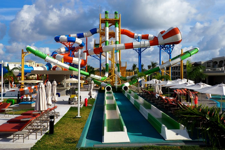 Water Park at the Grand at Moon Palace Resort Cancun Mexico
