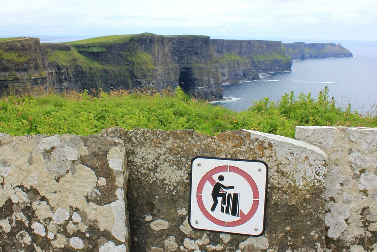 sign Cliffs of Moher, Ireland tourist attractions