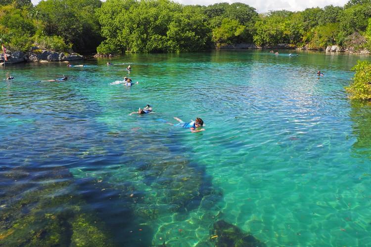 snorkeling at xelha mexico