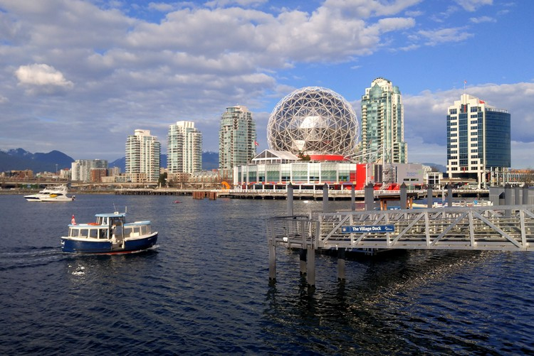 Science World, False Creek, Aquabus, Olympic Village