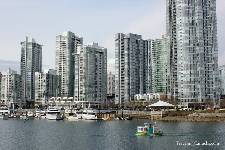 Vancouver architecture, condos on False Creek seawall