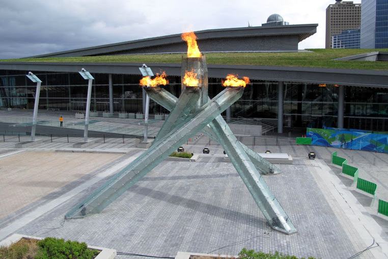 the Olympic Cauldron for 2010 Winter Olympics Vancouver