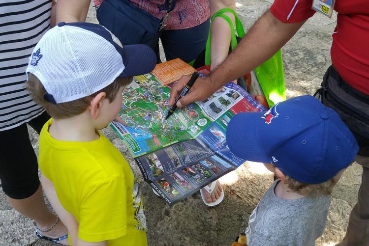 Xcaret map inside Mexico amusement park, Xcaret travel guide for travelling families