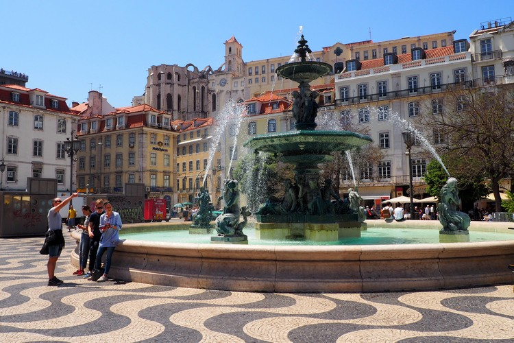 Architecture, Fountain, Photos of Lisbon, Portugal