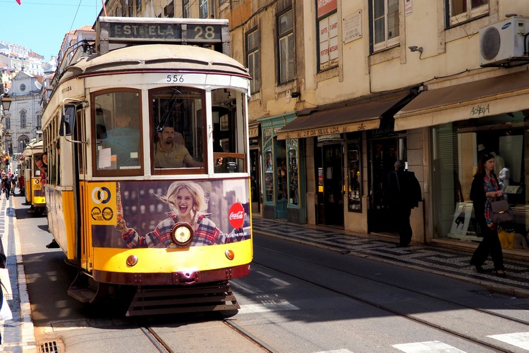 Tram, Photos of Lisbon, Portugal
