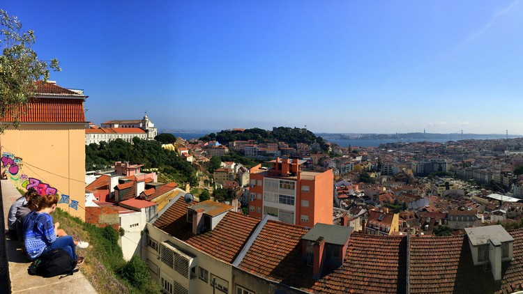 Panoramic views of Lisbon, Portugal