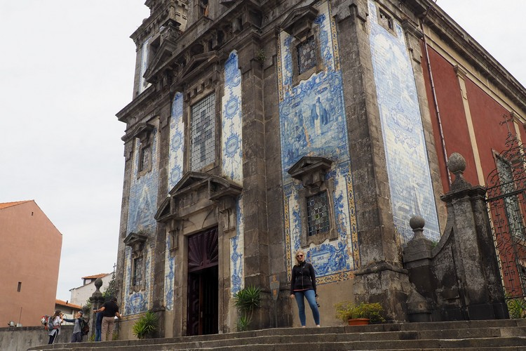 tiles on Church of Saint Ildefonso in Porto Portugal