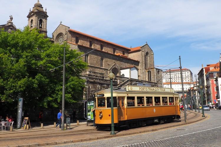 Heritage tram in Porto, Portugal