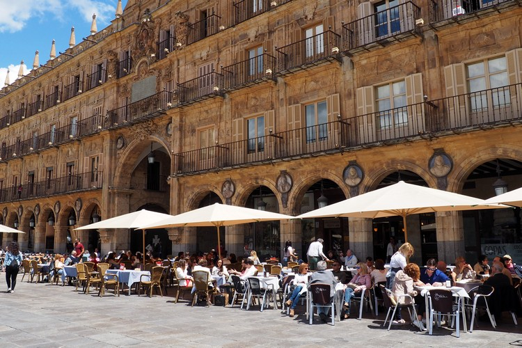 restaurants Plaza Mayor Salamanca Spain