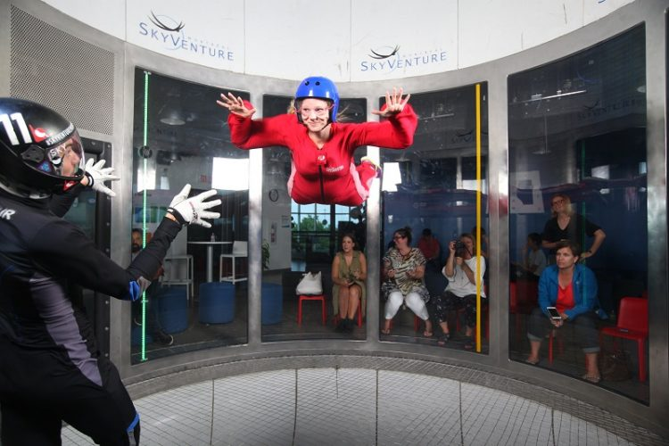 Indoor skydiving, SkyVenture Montreal, Laval, Quebec