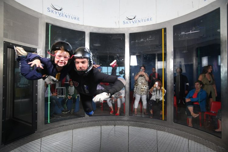Indoor skydiving, SkyVenture Montreal, Laval, Quebec