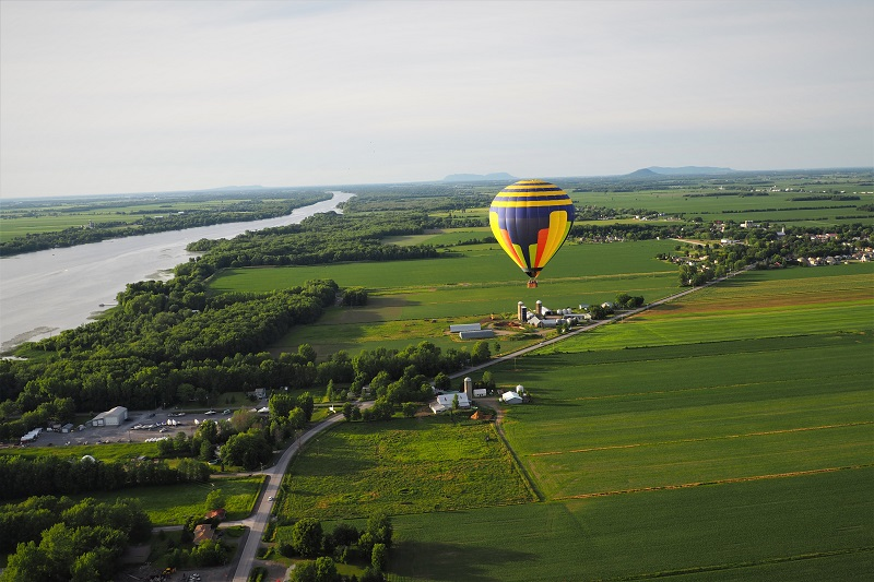 Hot air balloon, Quebec, Canada