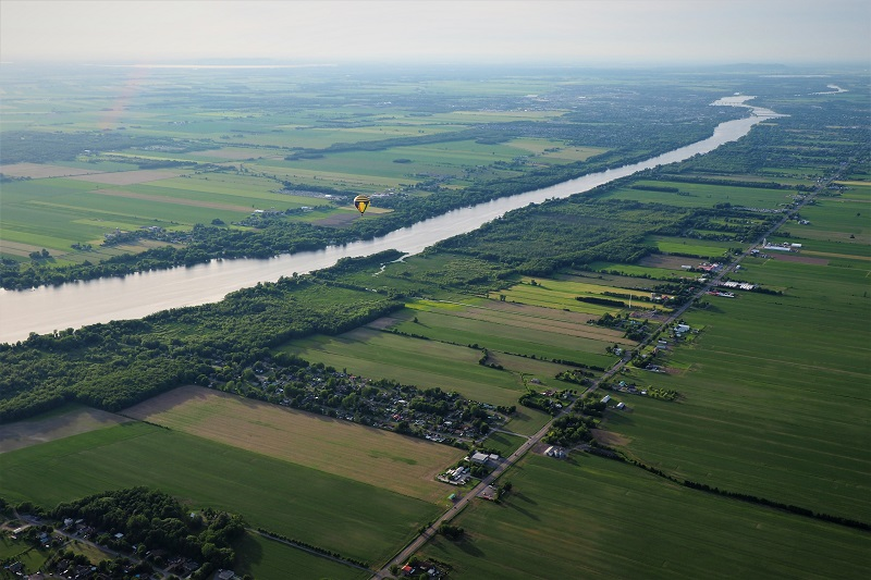 Quebec hot air balloon