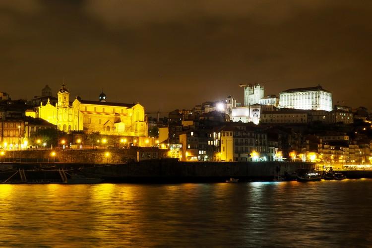 Night photos of Porto, Portugal