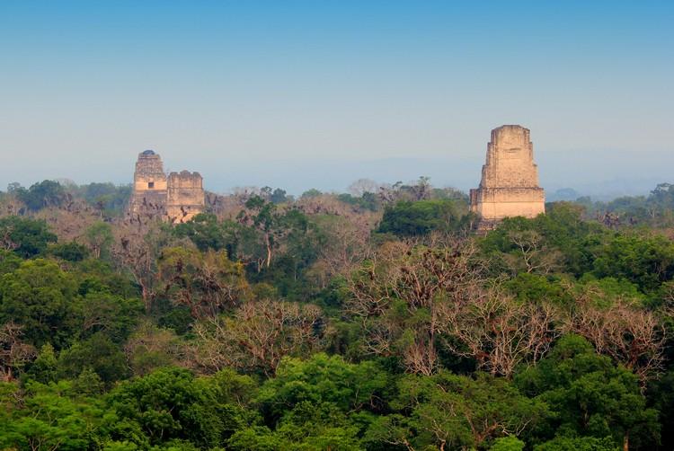 Mayan Temples, Jungles,Tikal National Park, Guatemala, Star Wars Scene