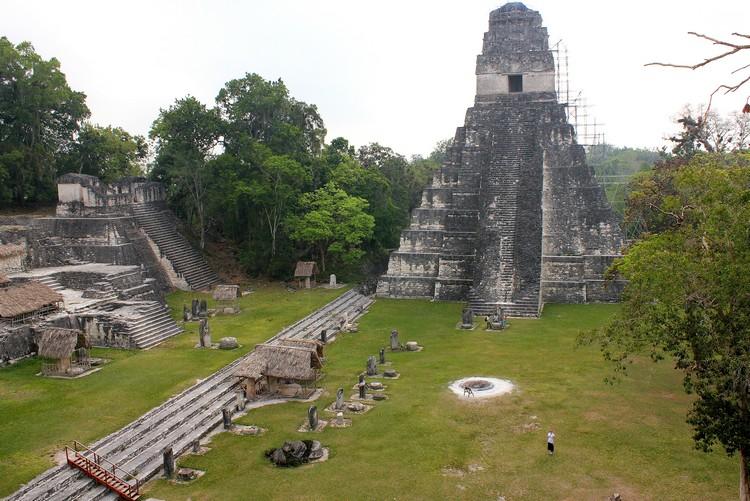 Mayan Temple in Tikal National Park Guatemala