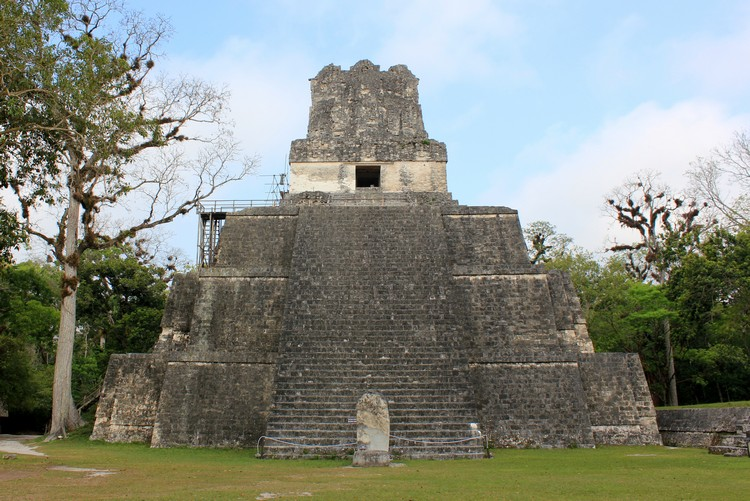 Mayan Temple 2 in Tikal National Park Guatemala