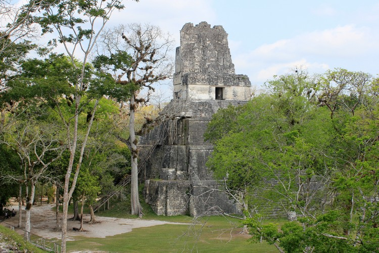 Mayan Temple II in Tikal National Park Guatemala