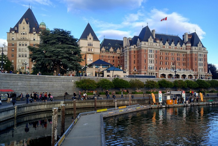 Fairmont Empress hotel view from Victoria Inner Harbour