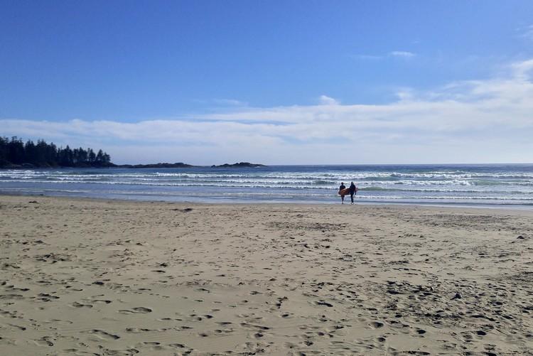 Tofino Beach, Surfing, Vancouver Island, British Columbia, Canada