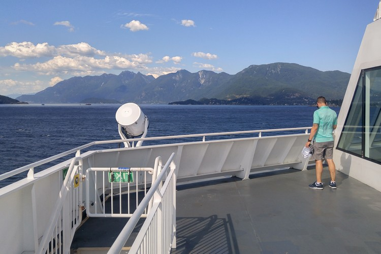 BC ferry from Nanaimo to Vancouver, Howe Sound, Straight of Geogia, British Columbia