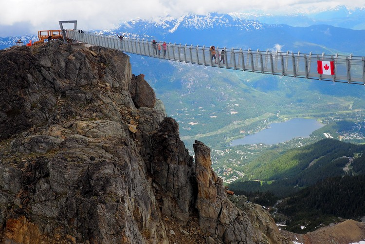 Whistler Peak Suspension Bridge, Peak to Peak 360 Experience, British Columbia, Canada