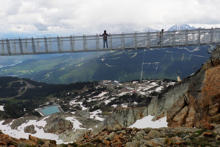 New Suspension Bridge on Whistler Peak, Whistler Mountain, British Columbia, Canada
