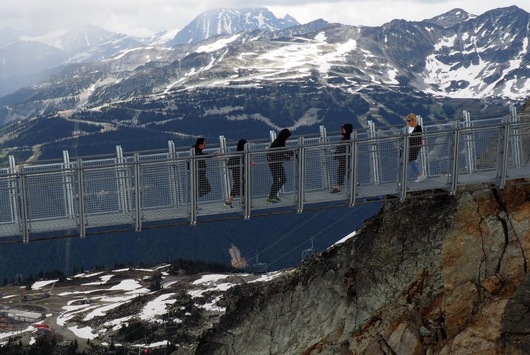 views of Cloudracker Skybridge from Whistler Peak