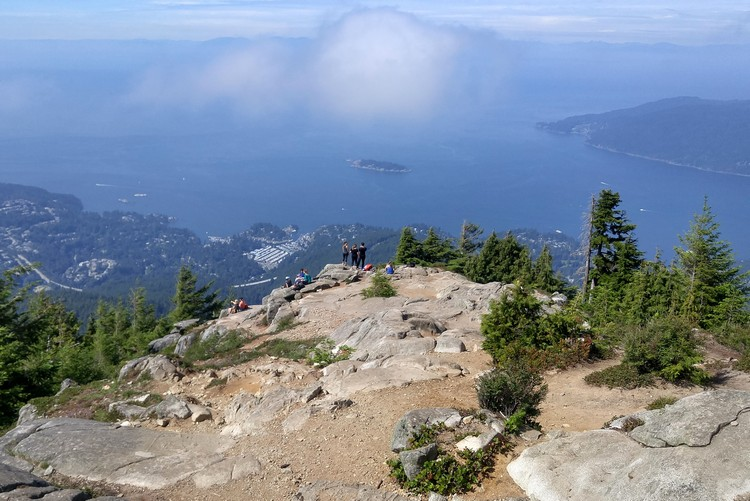 views from the top of Eagle Bluff hike in West Vancouver, best hikes in Vancouver British Columbia