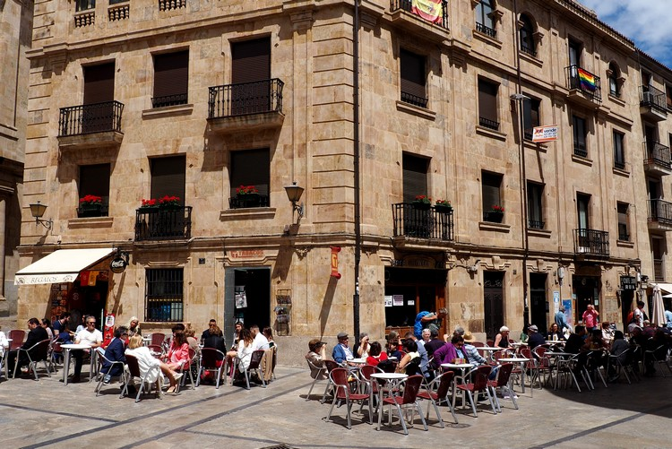 street scene in Salamanca Spain