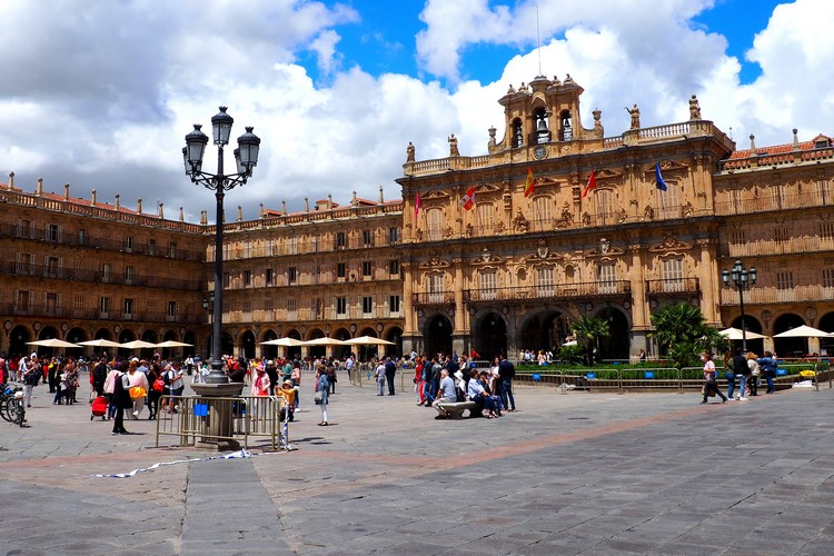 Plaza Mayor, Salamanca, Spain, Main Square, Architecture