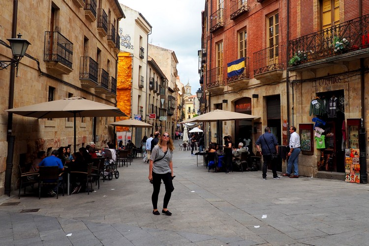 Exploring the historical streets of Salamanca, Spain
