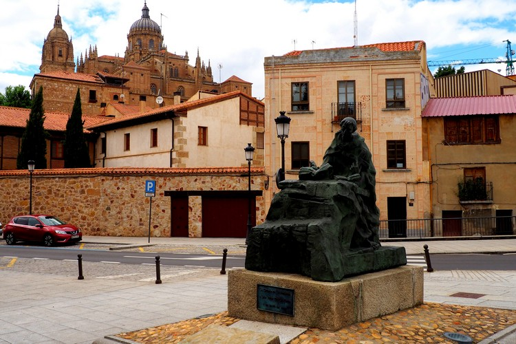 Statue in Salamanca Spain