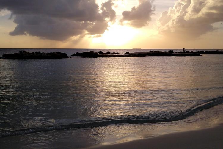 beach sunset Curaçao Caribbean island