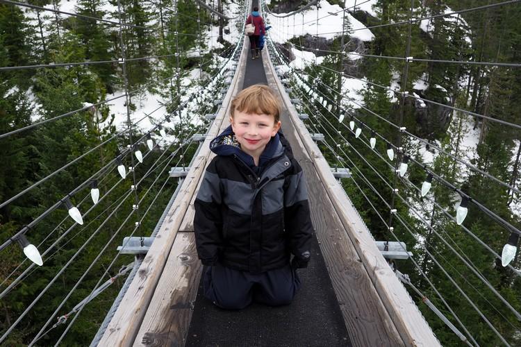 Sky Pilot Suspension Bridge, Sea to Sky Gondola, Squamish British Columbia