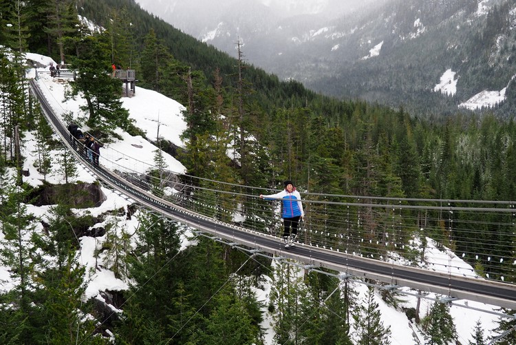Winter fun at Sea to Sky Gondola in Squamish, British Columbia