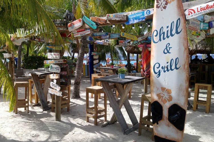 beach bar Curacao island