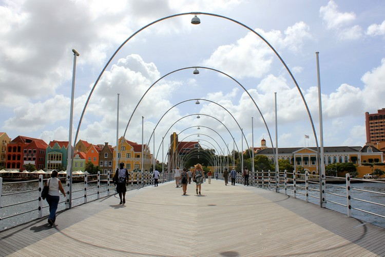 Queen Emma Bridge in Willemstad, Curaçao