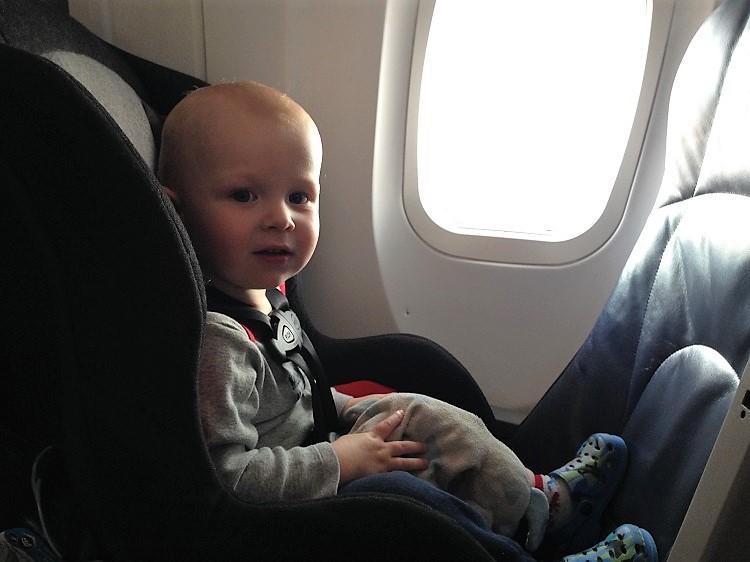Car seat on a plane