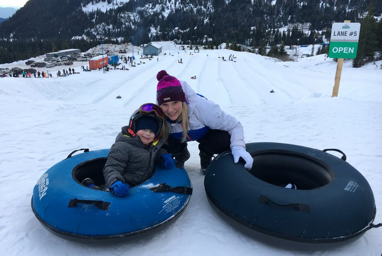 Snow Tubing at Sasquatch Mountain Resort